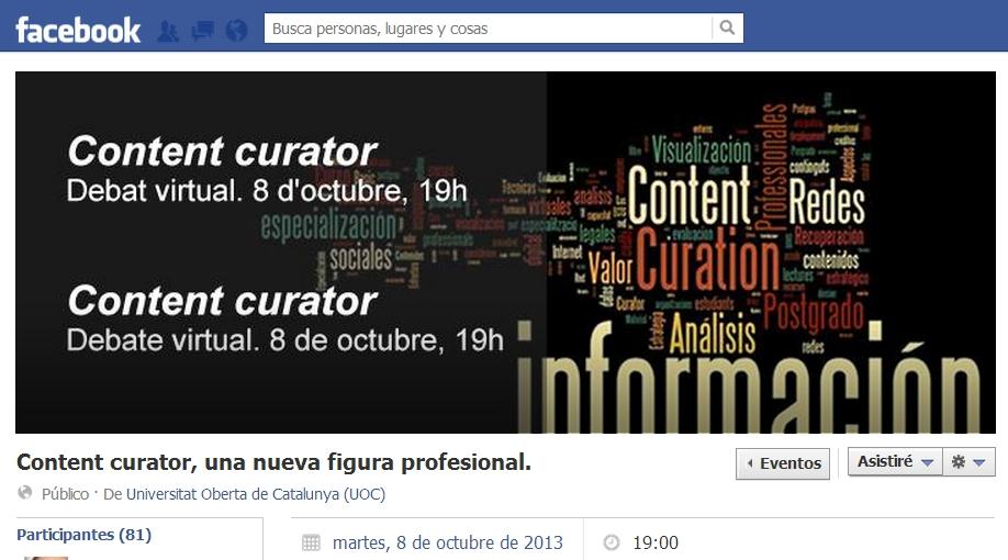 Evento Facebook octubre 2013