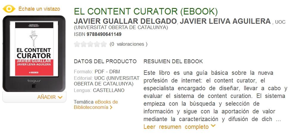 ebook content curator