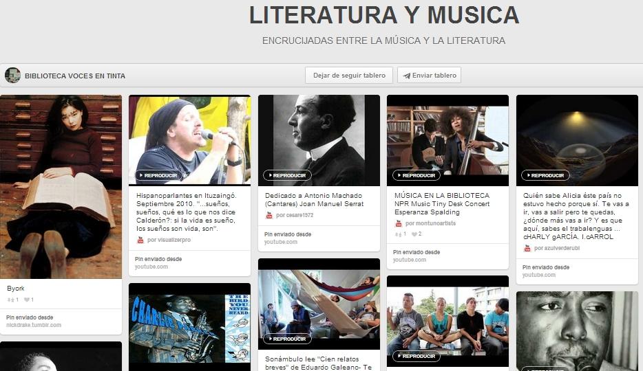 content curation biblioteca - voces en tinta