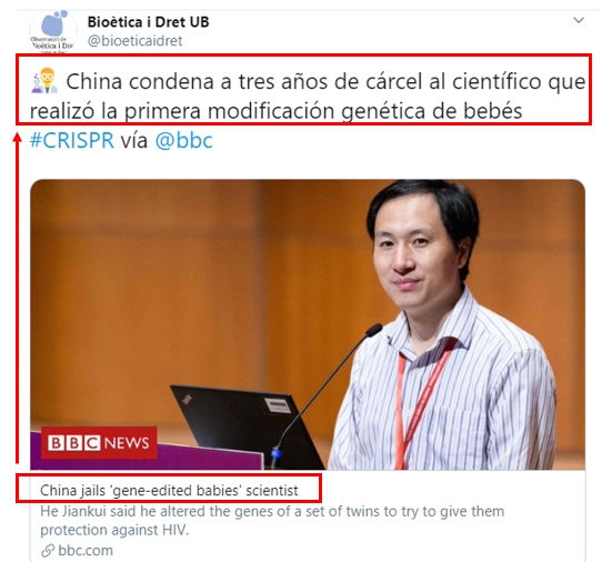 ejemplo curación en Twitter re-titling
