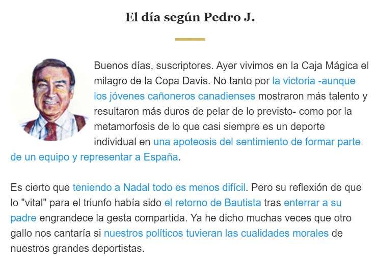 ejemplo curación summarizing resumir newsletter el español